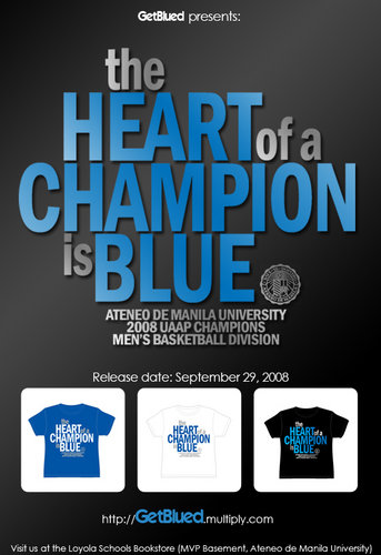 The Heart of a Champion is Blue